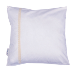 pillow case, lace, white